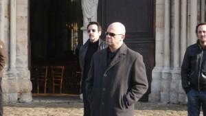 """Caplan et Morlighem aux obsèques de Rossi"""