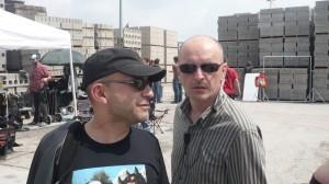 Le réalisateur Eric VALETTE et son assistant