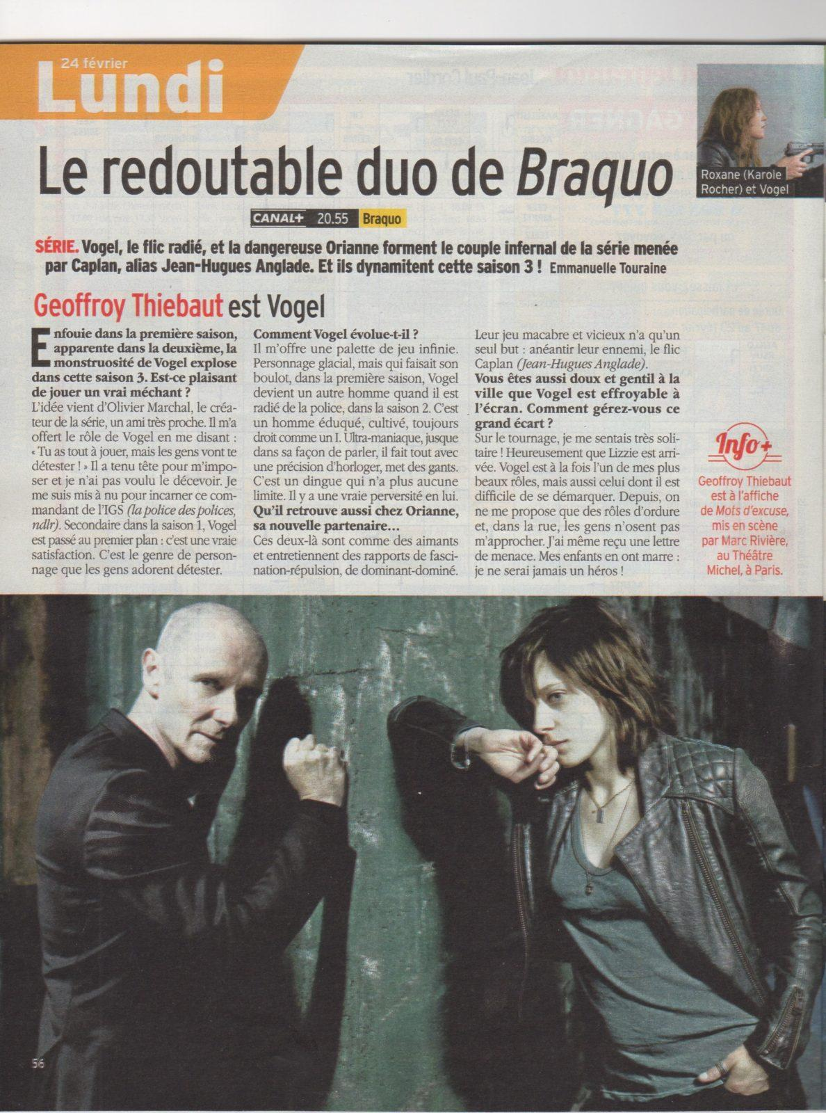 Press : BRAQUO Vogel