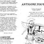 Antigone, Toujours : Presse - https://www.geoffroythiebaut.com