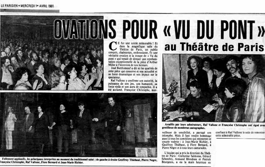 Vu du Pont - Presse Théâtre : https://www.geoffroythiebaut.com
