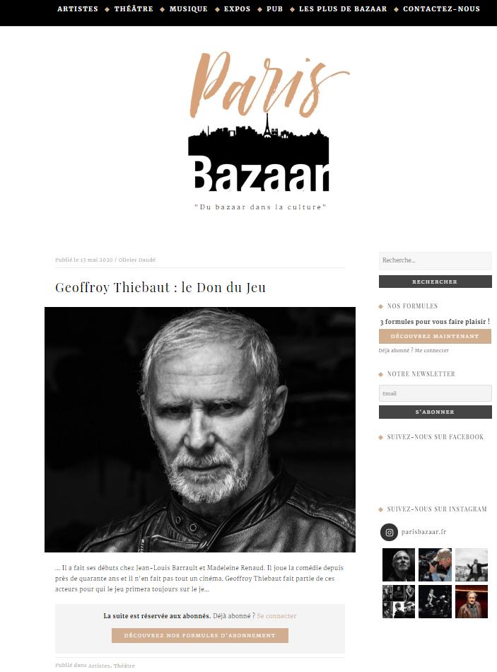 PARIS BAZAAR - Geoffroy THIEBAUT
